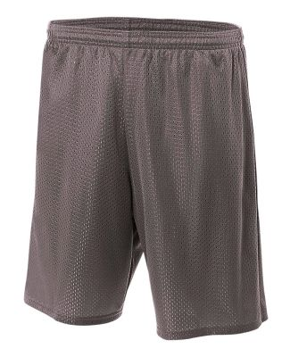 N5293 A4 Adult Lined Tricot Mesh Shorts GRAPHITE