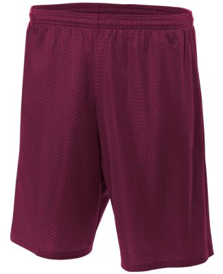 N5296 A4 Adult Lined Tricot Mesh Shorts MAROON
