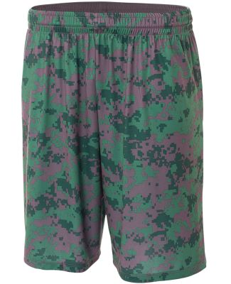 "N5322 A4 10"" Printed Camo Performance Short Forest"