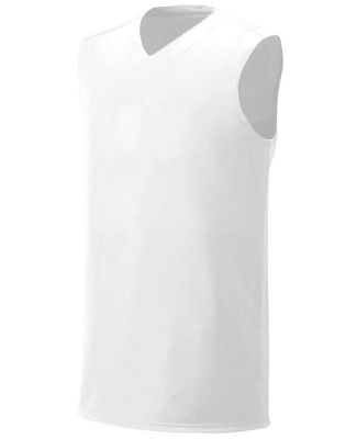 NB2340 A4 Youth Moisture Management V-neck Muscle White