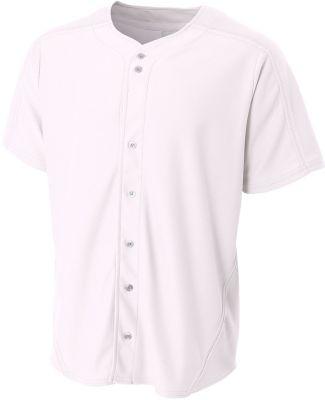 NB4214 A4 Youth Warp Knit Baseball Jersey White