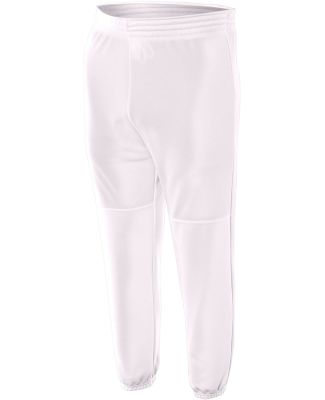 NB6120 A4 Youth Pull-On Baseball Pant White