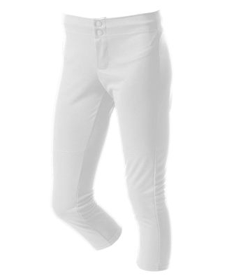 NG6166 A4 Girls Softball Pant White