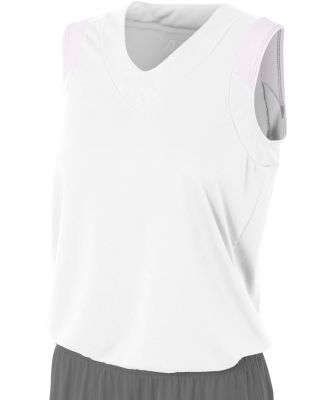 NW2340 A4 Moisture Management V-neck Muscle White