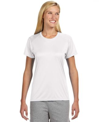 NW3201 A4 Women's Cooling Performance Crew WHITE