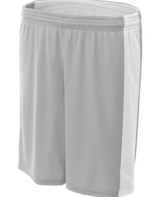 """NW5284 A4 Ladies Reversible Moisture Management 8"""" Silver/White"""