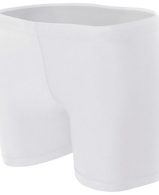 "NW5313 A4 Women's 4"" Compression Short White"