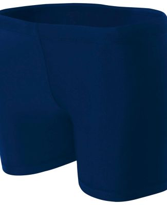 "NW5313 A4 Women's 4"" Compression Short Navy"