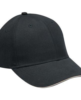 PE102 Adams Polyester Performer Cap Black/Khaki