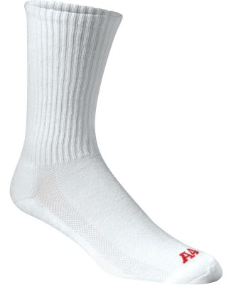 S8004 A4 Performance Crew Socks White