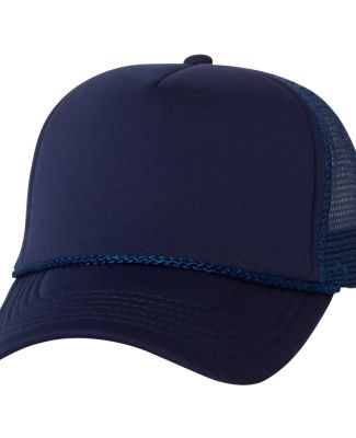 VC700 - Valucap - Foam Trucker Cap Navy/ Navy