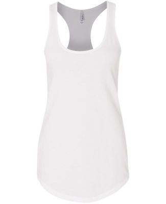 Next Level 6933 The Terry Racerback Tank WHITE