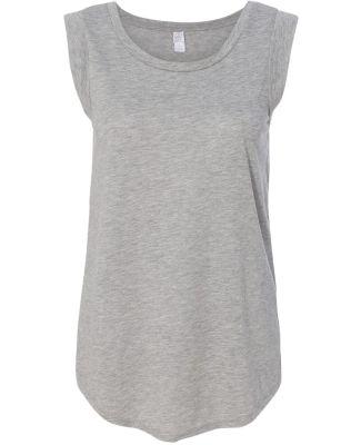 Alternative Apparel 4013 Ladies' Cap-Sleeve T-shir HEATHER GREY
