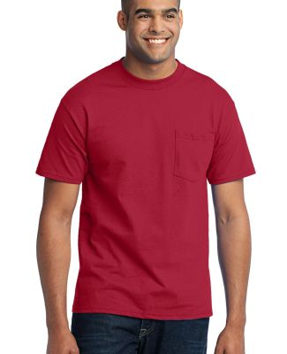Port & Company Tall 50/50 T-Shirt with Pocket PC55 Red