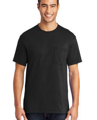 Port & Company Tall 50/50 T-Shirt with Pocket PC55 Jet Black
