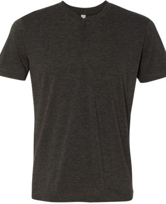 BELLA+CANVAS 3125 Short Sleeve Henley CHAR-BLACK TRIB