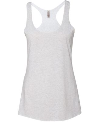 Next Level 6733 Tri-Blend Racerback Tank HEATHER WHITE
