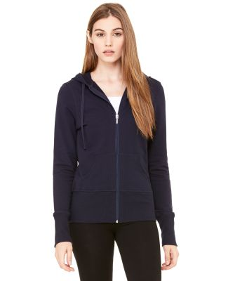 BELLA 7207 Ladies French Terry Zip-up Jacket MIDNIGHT