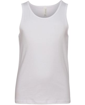 BELLA 3480Y Unisex Youth Cotton Tank Top WHITE
