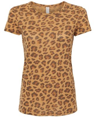 Alternative Apparel 01940E1 Ladies Ideal Vintage T LEOPARD