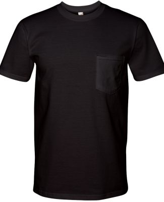 783 Anvil Adult Midweight Cotton Pocket Tee Black