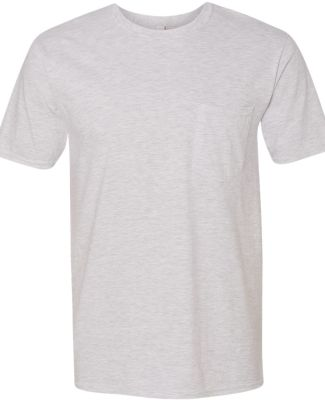 783 Anvil Adult Midweight Cotton Pocket Tee Ash