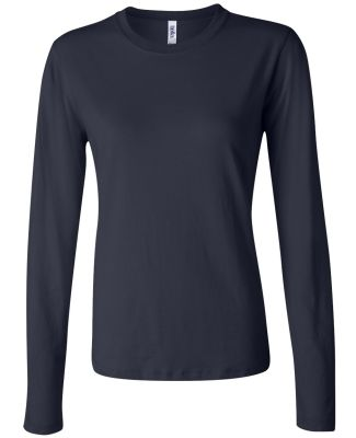 BELLA 6500 Womens Long Sleeve T-shirt NAVY