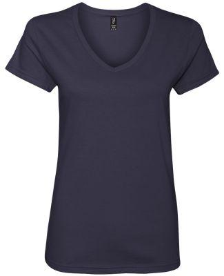 88VL Anvil - Missy Fit Ringspun V-Neck T-Shirt Navy