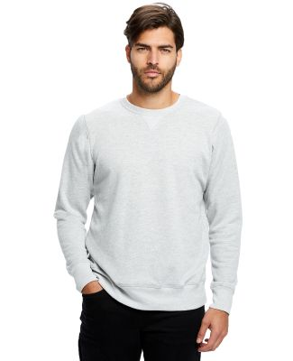 US8000 US Blanks Men's Triblend Pullover Heather Grey