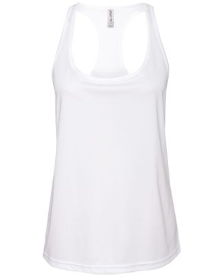 W2079 All Sport Ladies' Performance Racerback Tank White