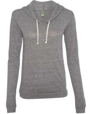 Alternative Apparel 01928E1 Ladies Hooded T-shirt Eco Grey