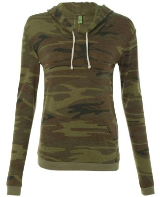Alternative Apparel 01928E1 Ladies Hooded T-shirt Camo