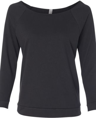 Next Level 6951 Terry Raw-Edge 3/4-Sleeve Raglan  BLACK