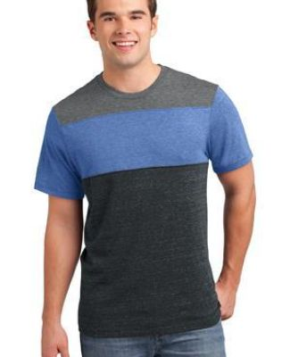 DT143 District® Young Mens Tri-Blend Pieced Crewneck Tee Catalog
