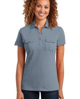 DM433 District Made™ Ladies Jersey Double Pocket Polo Catalog