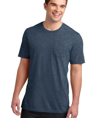 DT6000P District® Young Mens Very Important Tee® Hthr Navy