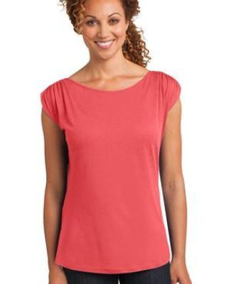 DM483 District Made™ Ladies Modal Blend Gathered Shoulder Tee Catalog