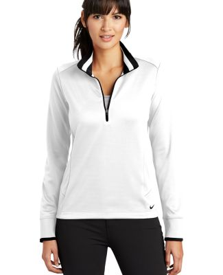 578674 Nike Golf Ladies Dri-FIT 1/2-Zip Cover-Up White/Black
