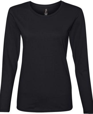 884L Anvil Missy Fit Ringspun Long Sleeve T-Shirt Black
