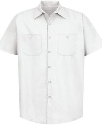 SP24 Red Kap - Short Sleeve Industrial Work Shirt White