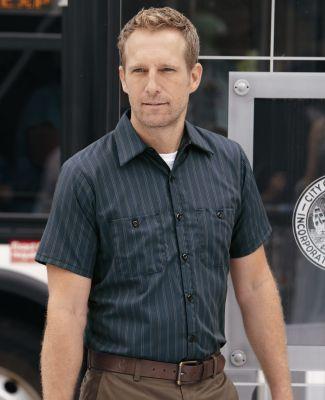 CS20 Red Kap - Short Sleeve Striped Industrial Work Shirt Catalog