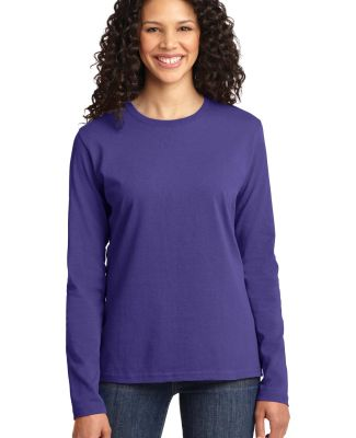 LPC54LS Port & Company® Ladies Long Sleeve 5.4-oz Purple
