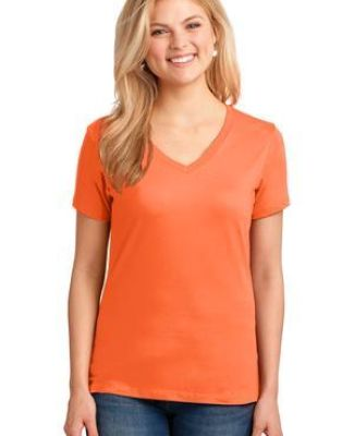 LPC54V Port & Company® Ladies 5.4-oz 100% Cotton V-Neck T-Shirt Catalog