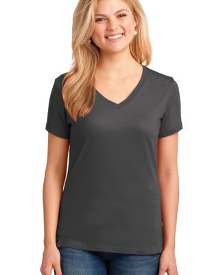 LPC54V Port & Company® Ladies 5.4-oz 100% Cotton  Charcoal