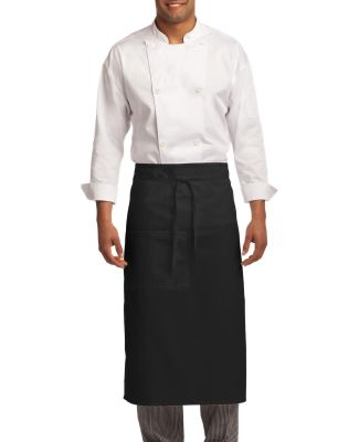 A701 Port Authority® Easy Care Full Bistro Apron  Black