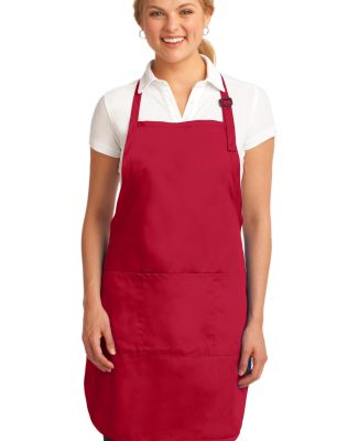 A703 Port Authority® Easy Care Full-Length Apron  Red