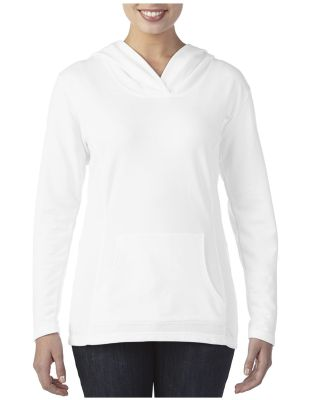 72500L Anvil® Ladies French Terry Pullover Hooded White