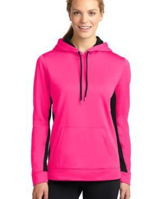 LST235 Sport-Tek® Ladies Sport-Wick® Fleece Colorblock Hooded Pullover Catalog
