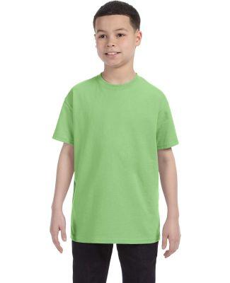 705B Anvil Youth Heavyweight Cotton Tee with TearA Neon Green