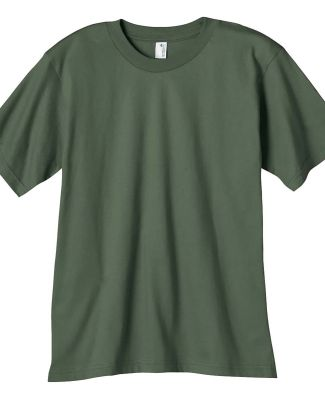 490B Anvil Organic Youth Short Sleeve Fashion Fit  CITY GREEN